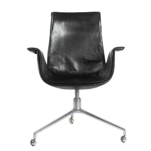 Black Leather Bird Chair 1