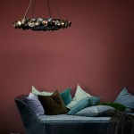 Single Tier Round Eucalyptus Chandelier