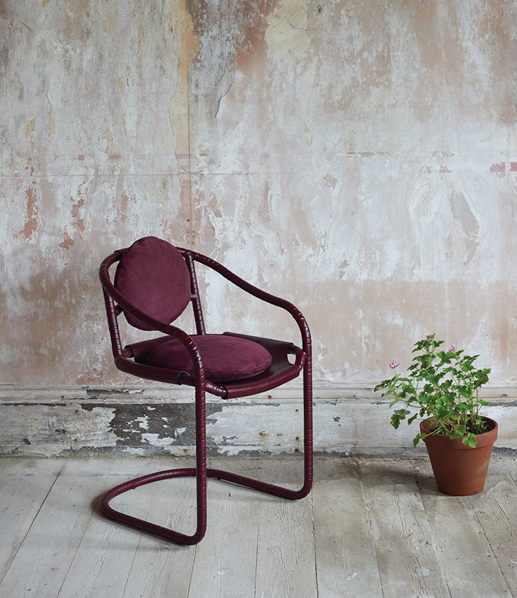 Ochre-caribou-chair-burgundy