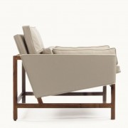 BassamFellows Low Back Lounge Chair Side View
