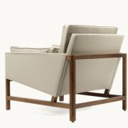 Low Back Lounge Chair by BassamFellows Back Side
