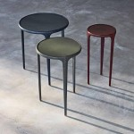 Leather Whisp Table - Round