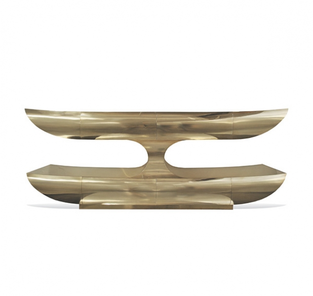 Two Tier Console – Brass