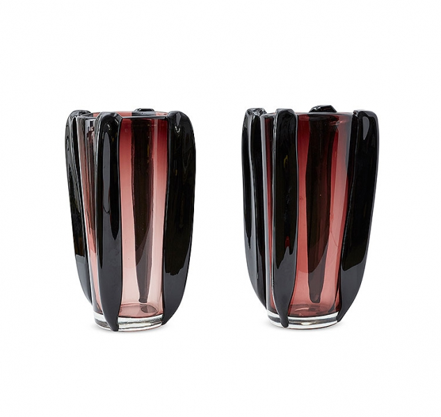 Pair of Aubergine Vases