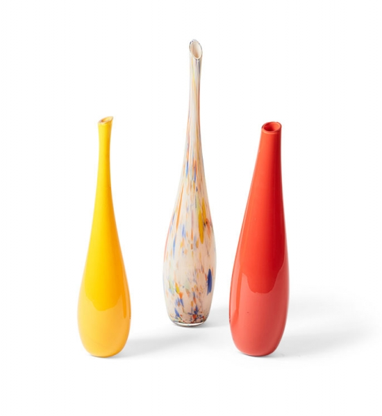 Set of 3 Polychrome Vases by Teobaldo Rossigno