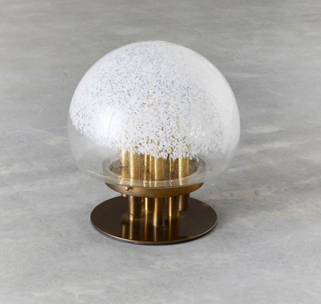 Large Globe Table Lamp by Angelo Brotto