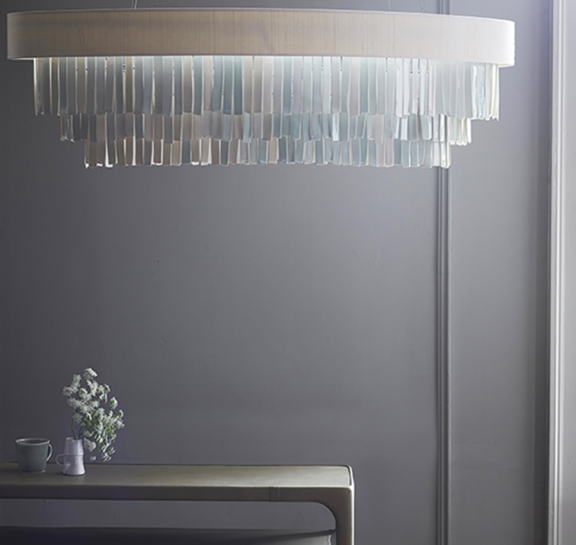 Aquarelles Chandelier Oval by Ochre