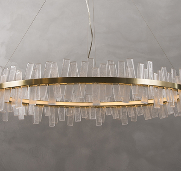 Aquitaine Chandelier, Single Tier Ellipse by COUP STUDIO