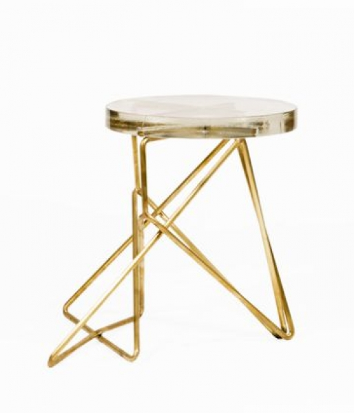 Brass Architect Stool