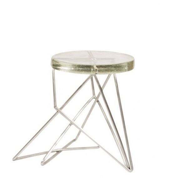 Aluminum Architects Stool