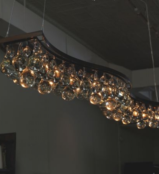 Arctic Pear Chandelier, Double Wave by OCHRE
