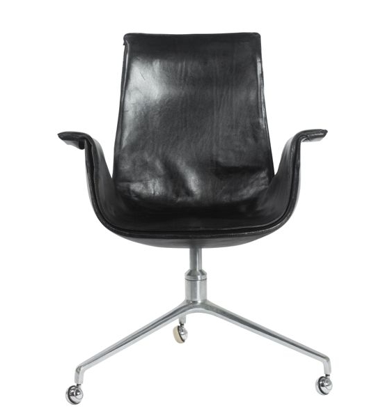 Black Leather Bird Chair
