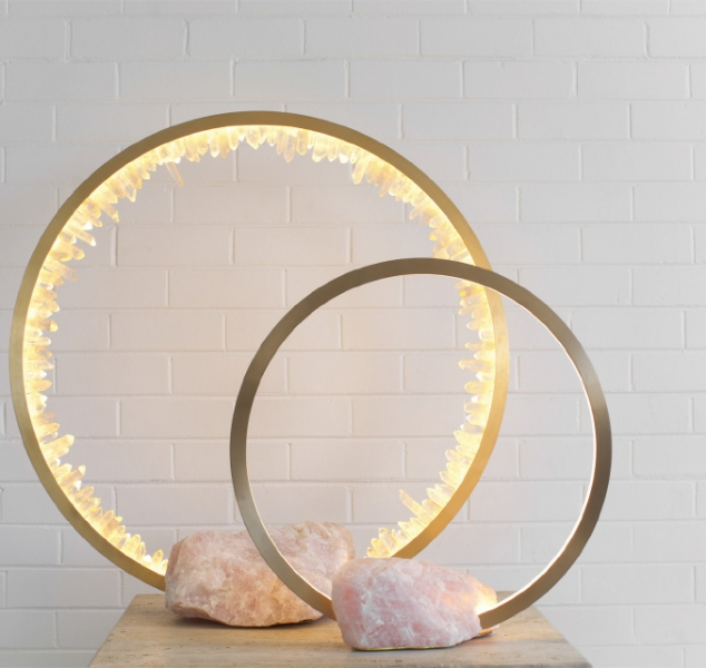 Portal Table Lamp – Quartz Base by Christopher Boots