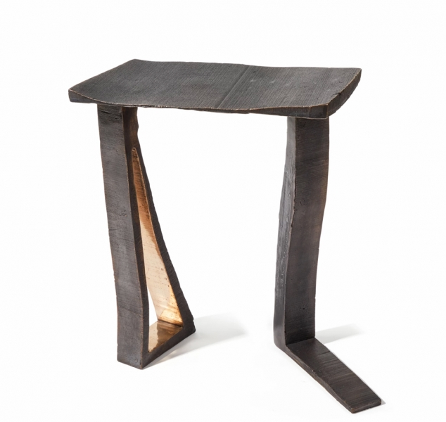 Dachi Stool Bronze by Chuck Moffit