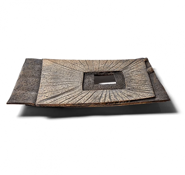 Untitled Square Plate Polished by Chuck Moffit
