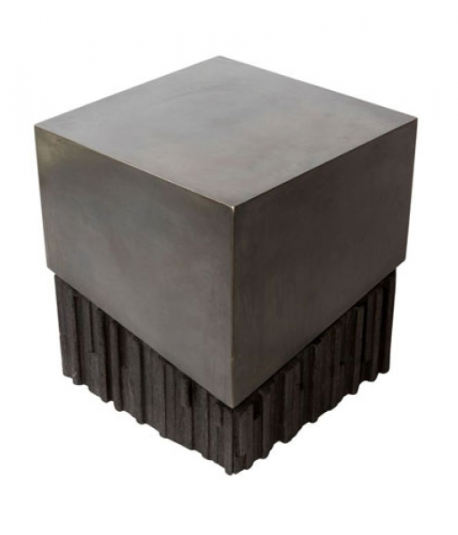 Charred Wood Side Table