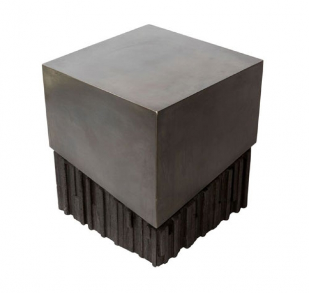 Charred Wood Side Table by John Liston