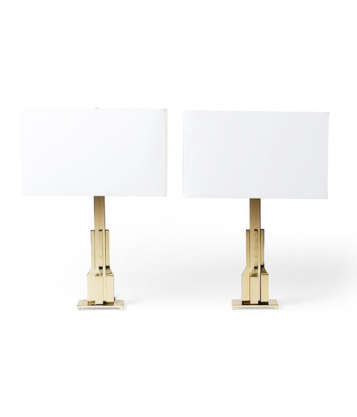 Pair of Cartier Lamps by Luciano Frigerio