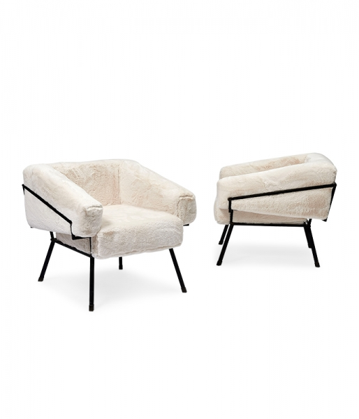 Pair of Oblique Chairs