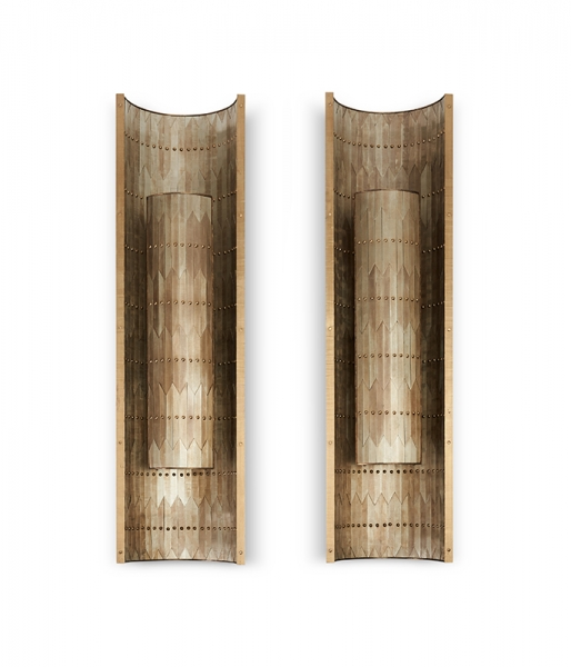Pair of Zag Sconces by Damian Jones