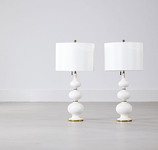 Pair of Gourd Lamps by Gerard Thurston for Lightolier