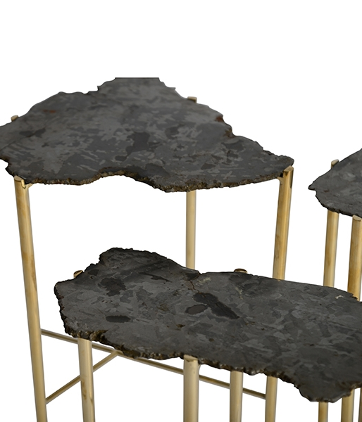 Meteorite Tables by Christopher Kreiling
