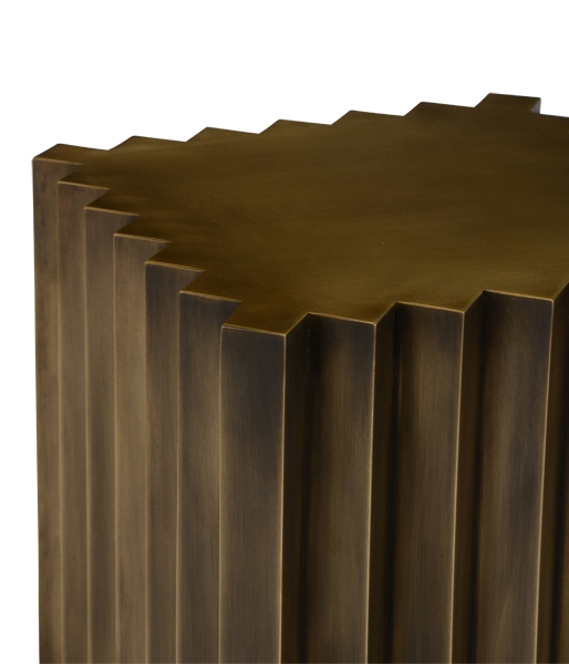 Corrugated Brass Table by John Liston
