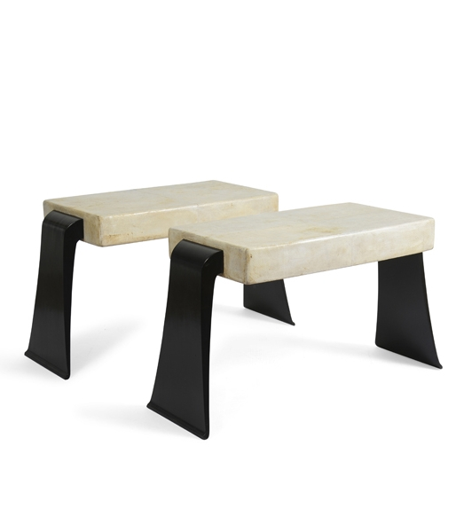 Pair of Deco Tables by Osvaldo Borsani