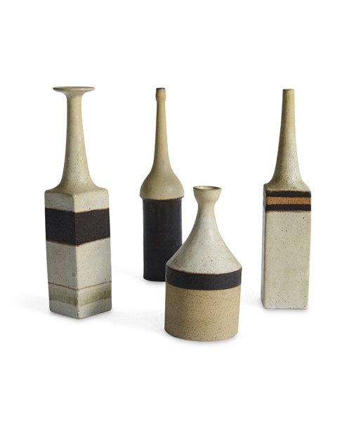 Set of 4 Ceramic Vases by by Bruno Gambone