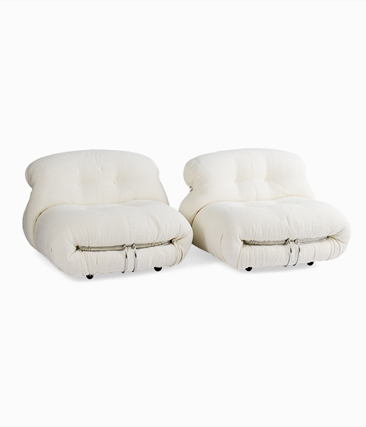 Pair of Soriana Lounge Chairs by Alfra & Tobia Scarpa for Cassina