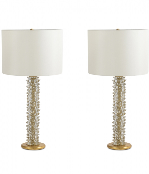 Pair of Brutale Table Lamps by Ercole Barovier