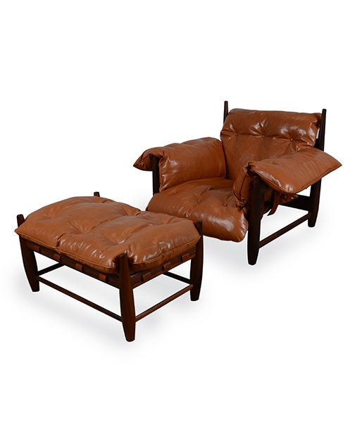 Sheriff Lounge Chair and Ottoman by Sergio Rodriguez