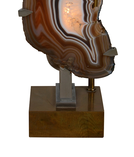 Agate Table Lamp by Willy Daro