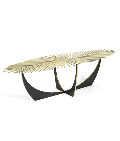 Double Frond Cocktail Table by Christopher Kreiling