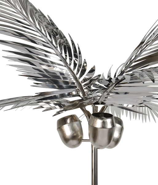California King Palm Tree Floor Lamp by Christopher Kreiling
