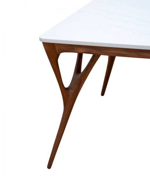 Nadia Dining Table / Calacatta Top – 86 by Camus