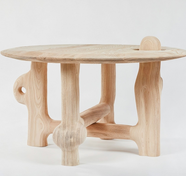 Hello World Center Table by Casey McCafferty