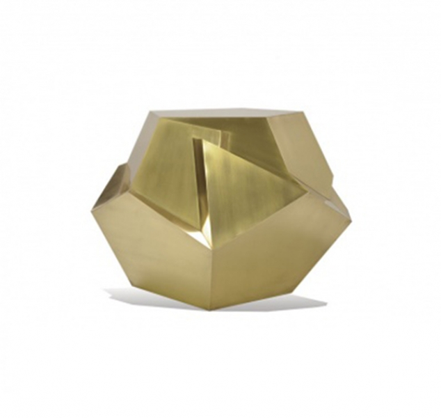 Kryptonite Brass Side Table