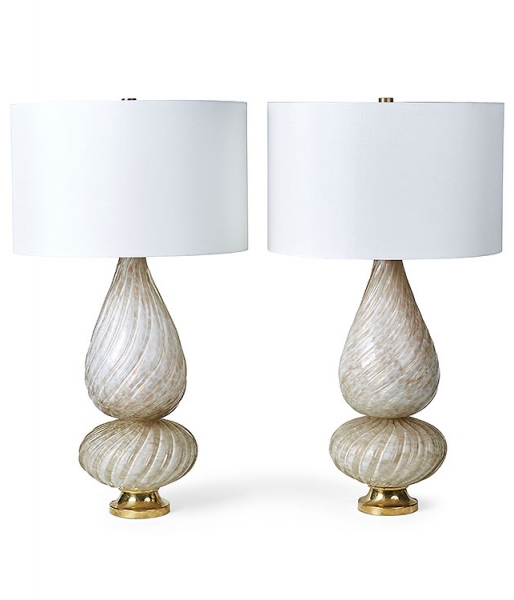 Pair of Avem Factory Murano Table Lamps