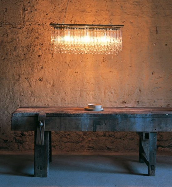 Light Drizzle Chandelier, Rectangular by OCHRE