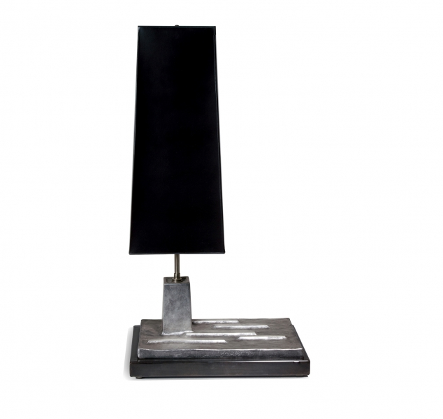 Insurgo Table Lamp, Silver Leaf by Chuck Moffit