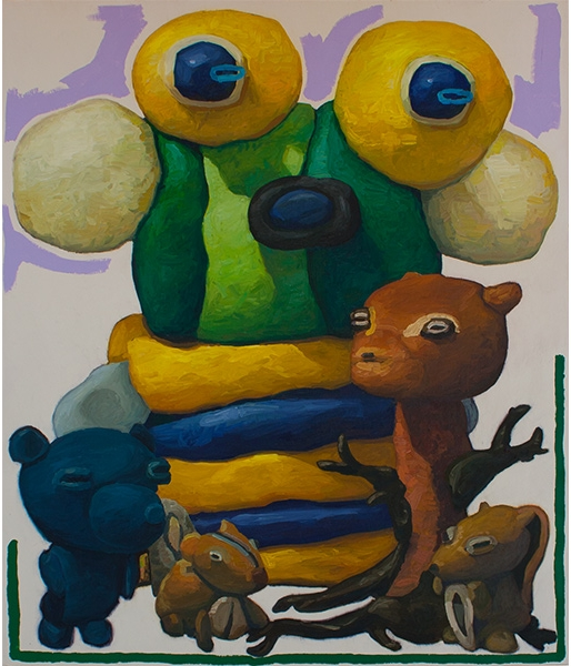 Noble Man with Forest Creatures and Blue Ghost by Peter Opheim