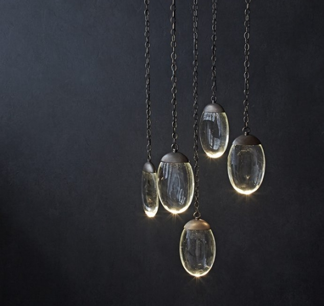 Celestial Pebble Chandelier, Round 5 by OCHRE