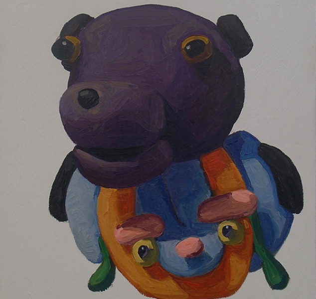 Purple Bear and Face by Peter Opheim