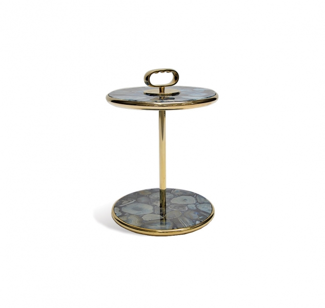 Cognac Side Table