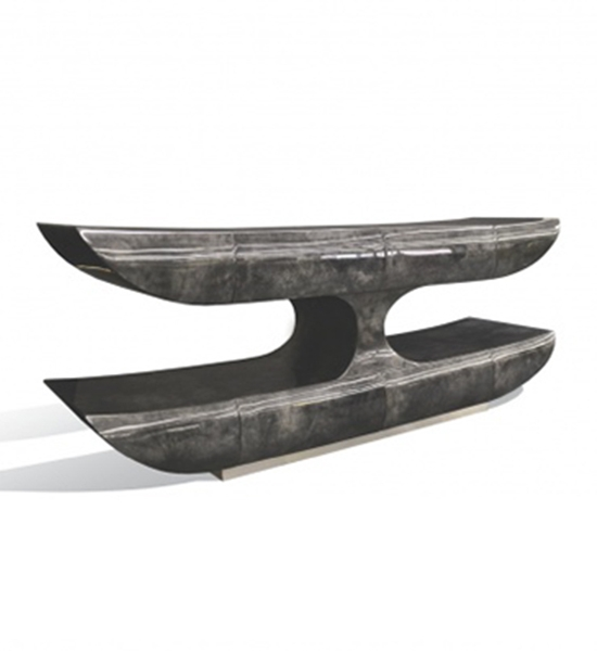 Two Tier Console – Goatskin by Scala Luxury