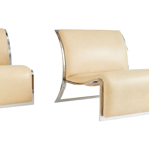 Pair of Bas Lounge Chairs