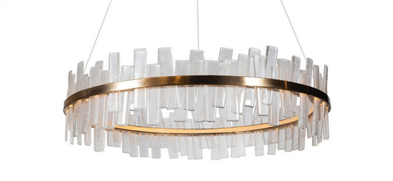 Aquitaine – Single Tier Ellipse Chandelier by Coup Studio
