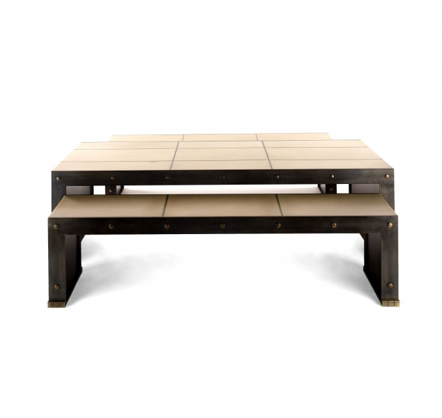 Axel Coffee Table and Bench by Jean De Merry