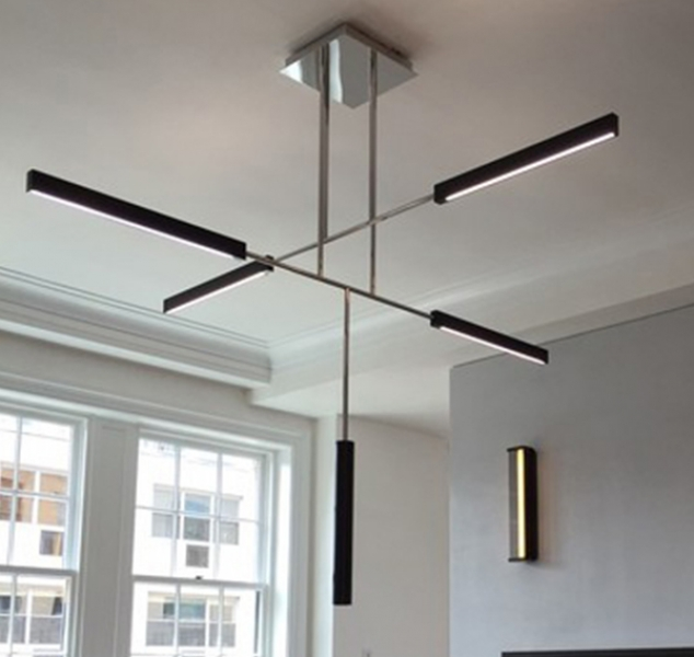 Axis 2 with Cylindrical Aluminum Pendant by Douglas Fanning